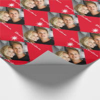 Personalized photo family birthday wrapping paper