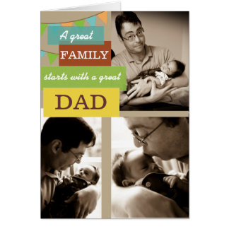 Personalized Photo Father's Day Card