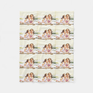 Personalized photo fleece blanket. Make your own!