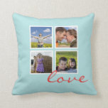 Personalized Photo Frame Throw Pillows Collage
