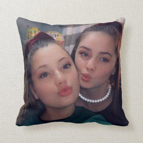 Personalized Photo Friendship Pillow BFF Besties