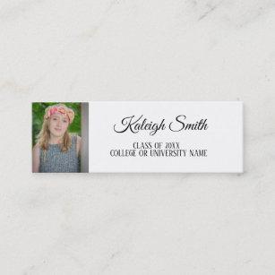 College graduate business cards zazzle personalized photo graduation insert name card colourmoves