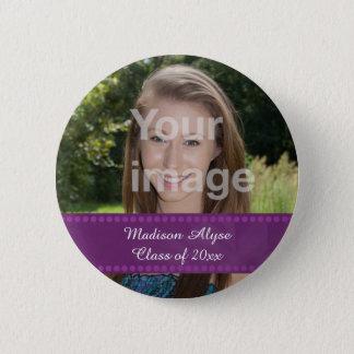 Personalized Photo Graduation Year Button