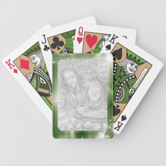 Personalized Photo | Green Frame Bicycle Playing Cards