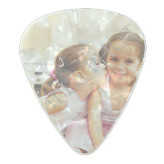 Personalized photo guitar picks. Make your own! Pearl Celluloid Guitar Pick