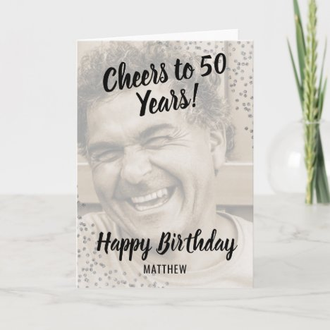 Personalized Photo Happy Birthday Card