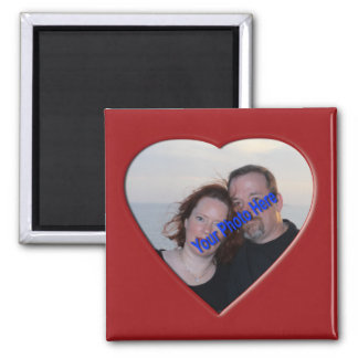 Personalized Photo Heart Shaped Magnet