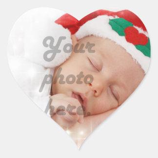 Personalized photo heart sticker