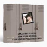 Personalized Photo High School Locker Memory Book Binder