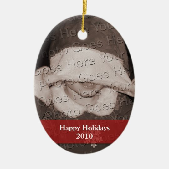 Personalized Photo Holiday Ornament