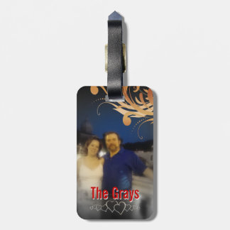 Personalized Photo Honeymoon Cruise Monogram Tag For Luggage