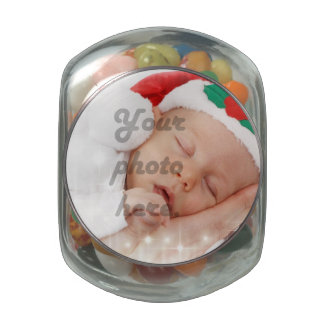 Personalized photo jelly belly candy jars