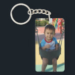 "Personalized Photo Keychain<br><div class=""desc"">Personalize these key chains with photos of your new baby,  kids or grandchildren.   They&#39;re great for family photos and newborn photos.  They also make a great gift for new mom and dads,  or grandparents.</div>"