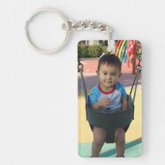 Personalized Photo Keychain at Zazzle