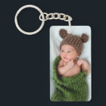 """Personalized Photo Keychain<br><div class=""""desc"""">Personalize these key chains with photos of your new baby,  kids or grandchildren.   They&#39;re great for family photos and newborn baby photos.  They also make a great gift for new mom and dads,  or grandparents.</div>"""