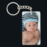 """Personalized Photo Keychain<br><div class=""""desc"""">Photo by Northern Virginia photographer Marian Lozano www.marianlozanophotography.com. Personalize these key chains with photos of your new baby,  kids or grandchildren.   They&#39;re great for family photos and newborn photos.  They also make a great gift for new mom and dads,  or grandparents.</div>"""