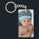 "Personalized Photo Keychain<br><div class=""desc"">Photo by Northern Virginia photographer Marian Lozano www.marianlozanophotography.com. Personalize these key chains with photos of your new baby,  kids or grandchildren.   They&#39;re great for family photos and newborn photos.  They also make a great gift for new mom and dads,  or grandparents.</div>"