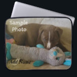 """Personalized Photo Laptop Case<br><div class=""""desc"""">Personalized Photo Laptop Case Add Your favorite Photo Add Name (or delete if for no Name) Sample photo of my pup</div>"""
