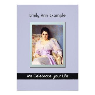 Personalized Photo (Living) Funeral or Memorial Custom Invitations