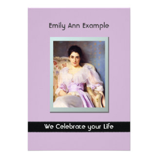 Personalized Photo (Living) Funeral or Memorial Custom Invitation