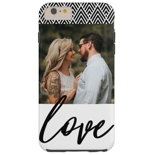 Personalized Photo Love Black and White Phone Case
