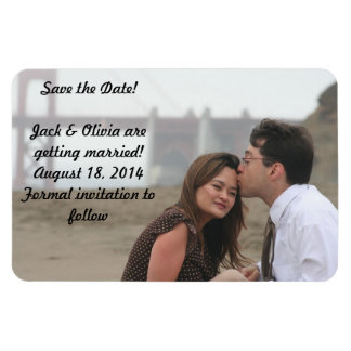 Personalized Photo Magnet - Save the Date