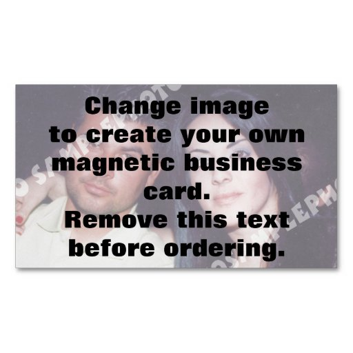 Personalized photo magnetic business card