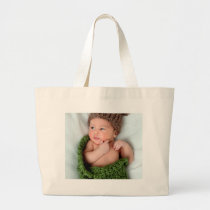 Personalized Photo Make It Yourself Large Tote Bag