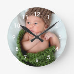 Personalized Photo Make It Yourself Round Clock