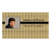 Personalized Photo Masculine Brown and Black Double-Sided Standard Business Cards (Pack Of 100)