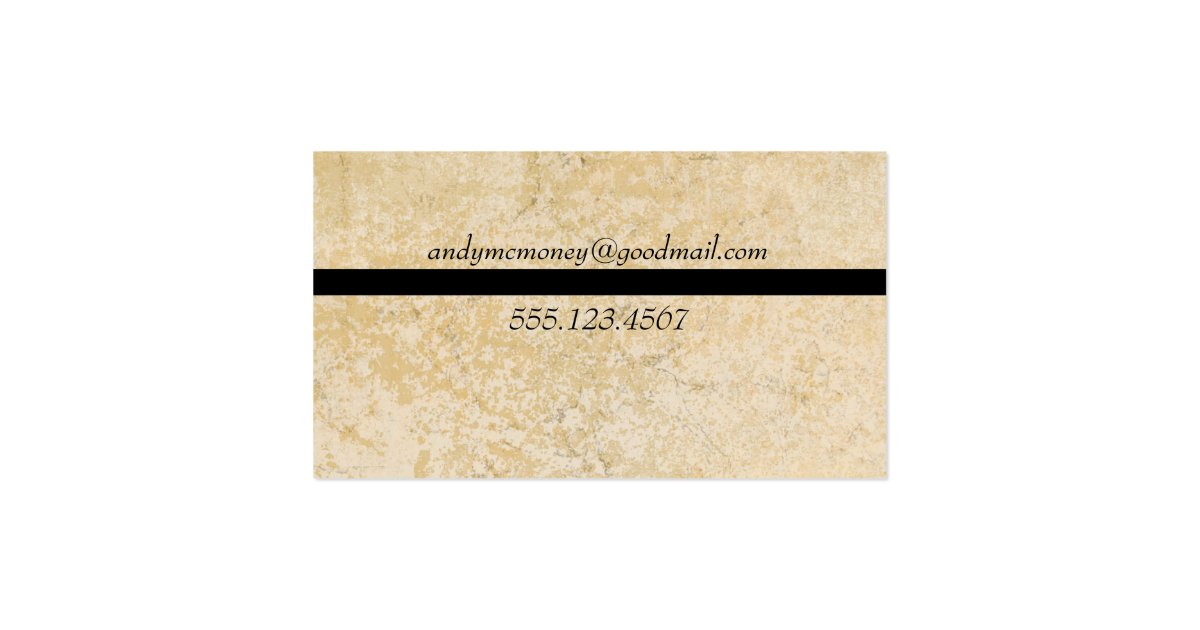 Personalized Masculine Marble Tile Business Card