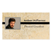 Personalized Photo Masculine Marble Tile Double-Sided Standard Business Cards (Pack Of 100)
