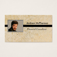 Personalized Photo Masculine Marble Tile Business Card at Zazzle