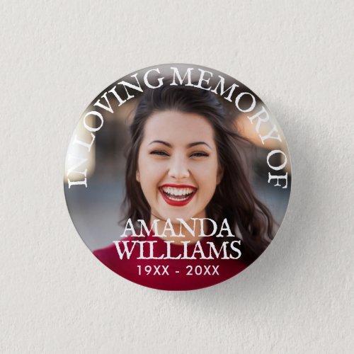 Personalized Photo Memorial Button