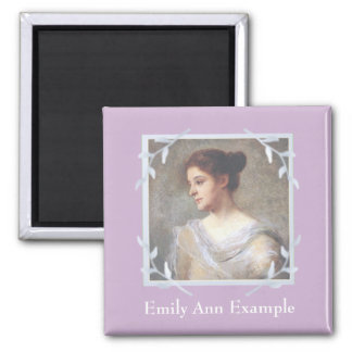 Personalized Photo Memorial 2 Inch Square Magnet