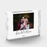 """Personalized Photo &amp; Message Acrylic Keepsake Acrylic Award<br><div class=""""desc"""">Create your own uniquely custom printed acrylic keepsake block with your very own photo and any two line message. Personalize this acrylic keepsake block today to create a memory that will last forever!</div>"""