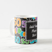 Personalized Photo Mug Colorful 50th Birthday