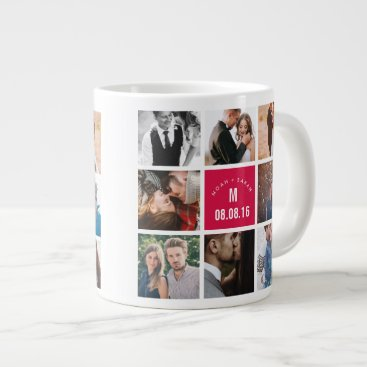 Coffee Themed Personalized Photo Mug Married Photos