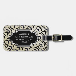 Personalized Photo Mustache Pattern Luggage Tag