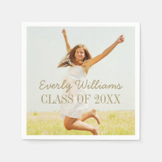 Personalized Photo Napkins | Class of 2017