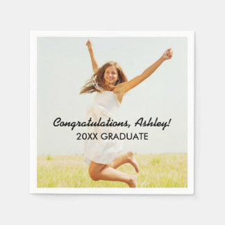 Personalized Photo Napkins | Congratulations