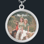 "Personalized photo necklace<br><div class=""desc"">Customizable photo necklace. Personalize words and picture on this sterling silver necklace.  Put your family or baseball team whatever you like!  Your favorite photo here!</div>"
