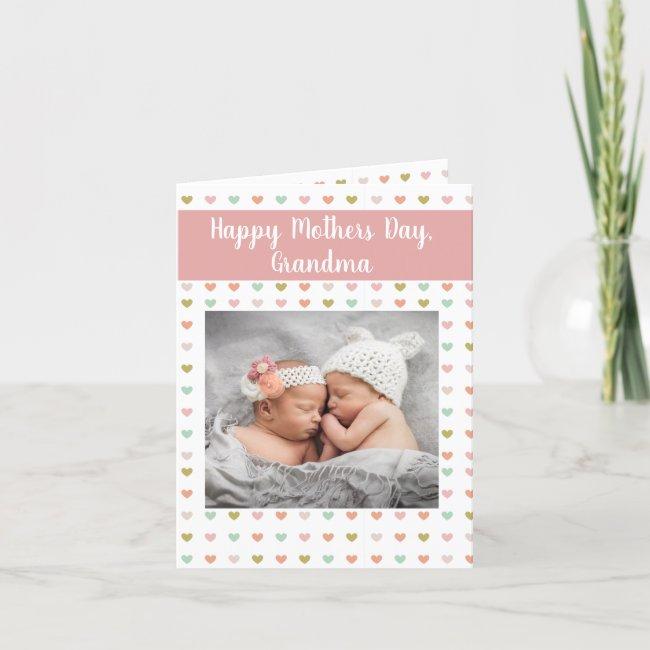Personalized Photo New Grandma Holiday Card