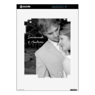 Personalized Photo Newlywed or Couples iPad Skin