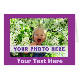 Personalized Photo Note Cards YOUR TEXT and PHOTO