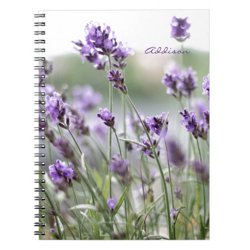 Personalized Photo Notebook With Lavender