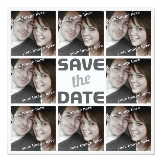 Personalized Photo Octet Save the Date Card