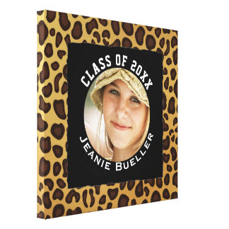 Personalized Photo of Graduate Custom Graduation Canvas Print