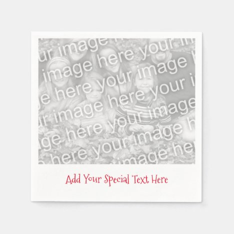 Personalized Photo or Image, Message Paper Napkins