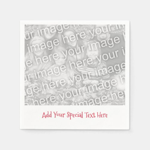 Personalized Photo or Image Message Paper Napkins